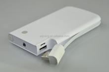 2in1 charger with micro usb wire 5000mah power bank / dual USB port power bank