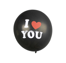 Wholesales 12inch rubber balloon I LOVE YOU latex balloon