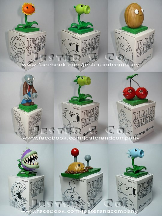 Plants VS ZOMBIES miniatura objetos de colección de juguetes