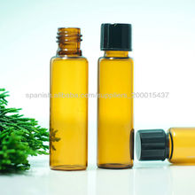 botella de vidrio de color ámbar para uso médico