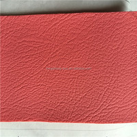 0.82 mm pink pvc artificial leather for sofa with knitted fabric made in Jiangyin