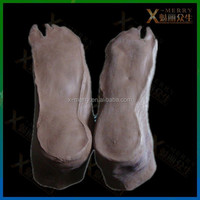X-MERRY Gray Zombie Shoes Covers Halloween Prop/Toy Carnival Theater Decor Halloween Scary Environment Latex Prop