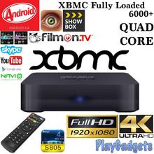 2015newest Quad Core Android 4.4 Smart TV BOX Player KODI/XBMC Mini PC