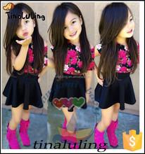 bulk wholesale kids clothing brand new girls 2pc boutique korea clothes sets