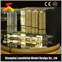 architectural design for commercial interior scale model