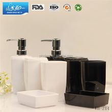 wh214 New design plastic bathroom set accessories
