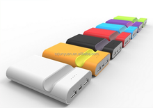 Multi color mobile power pack with charing indicator