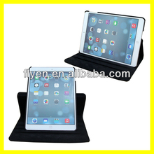 hotsale lichi pattern smart magnetic cover pu leather 360 degree rotating swiveling case for ipad air