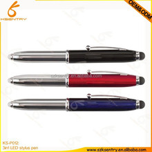 fancy design advertising metal stylus led pen