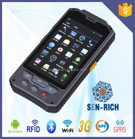 full touch screen smart Android mobile with barcode scanner pda