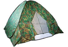 Cold weather fire resistant ice fishing tents