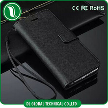 real cow leather wallet flip leather case for iphone 5