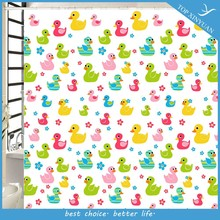 2015 new design EVA/PEVA/ PVC/duck bathroom shower curtains / shower curtain liners