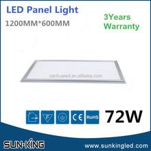 Designer hot-sale 72watts led panel light 600x1200, ultra thin led square panel ceiling light 72w