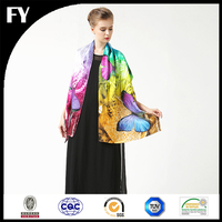 Custom digital printed silk shemagh keffiyeh scarf