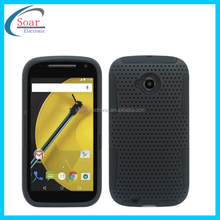 2015 Mesh silicone combo case for Motorola MOTO E2 XT1527