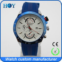 Stock watches in china watch wholesale with rubber strap 5ATM waterproof