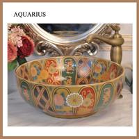 jingdezhen color glazed pub artistic ceramic basins