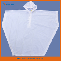 Functional wholesale adult waterproof fashionable transparent pvc rain ponchos 2014 hot