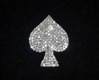"Custom name pin new fashion rhinestone brooch unique gift Bling"" Spade"" Pin"