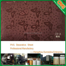 waterproof membrane laminated pvc sheet for aluminum profile wrapping