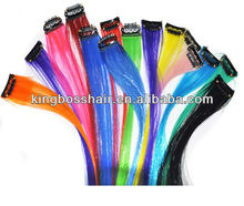 popular crazy color one piece clip in hair extension
