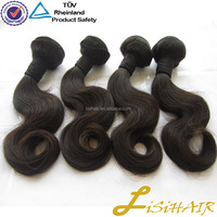 Natural Color Straight & Body Wave Virign Human Hair burgundy remy hair for weaving