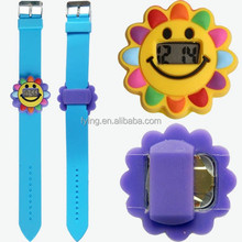hot selling silicone digital kid watch in different shape