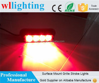 Surface Mount Red Head light 4 LED Warning Security Grille Strobe Lights