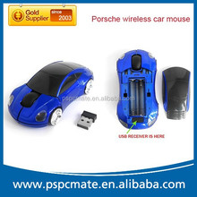 Customized Promotional Gift 2.4G wireless car shaped computer mouse with usb mini receiver