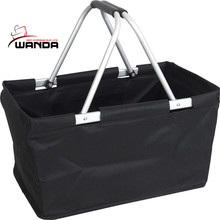 600d polyester black shopping baskets