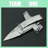 Stainless Steel Wallet Knife folding w/ mirror finish