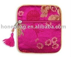 Fashion women silk jewelry bag