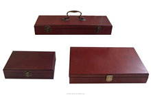 Wooden packaging boxes with classic finish