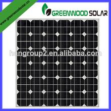 de alta eficiencia 1w a 300w panel solar con el marco