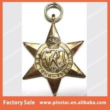 The 1939 - 1945 Australian WW1 War Custom Made Gold Tone 3D Medal Supplier
