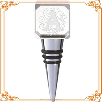 crystal craft wine stopper engraving
