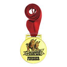 3D custom metal badge; bulls logo metal badge