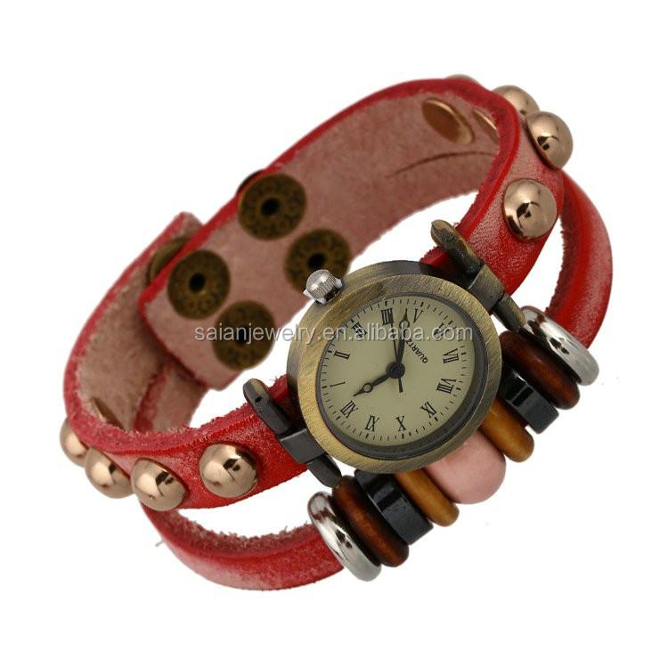 Geniune Leather Multy Wrap Watch Bracelets 53