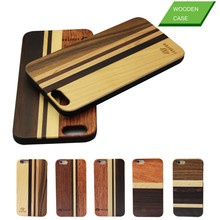 Real wood factory friendly wooden cell phone case for iphone 6
