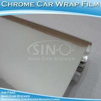 1.52x30M 5FTx98FT Silver Chrome Easy Installation Auto Stickers/ PVC Vinyl Chrome For Auto Ornament