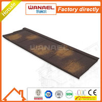 Shingle Wanael stone coated roof tile/lowes metal roofing cost/low cost house construction material