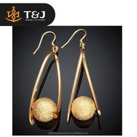 2015 New Arrival Fashion Colorful Copper Alloy Drop Dangle Earrings Water Drop Style earrings for women