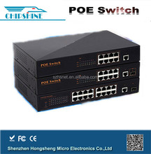 IEEE802.3af 10/100M mini 4 port poe switch for IP camera