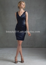 Vestido de bola de la rodilla- longitud de organza vestido de fiesta ed0160