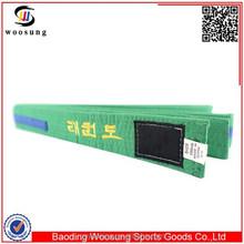 Cheap durable colors embroidery karate belt cintos karate bordados