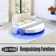 CY006 latest design modern leather round bed