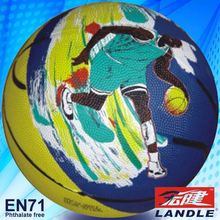 Rubber made Official size basketball bouncing ball
