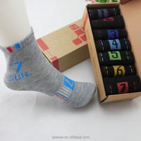 Novelty Daily Socks Mens 7 Days of the Week Cotton Ankle Socks for Men