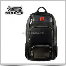 good quality leisure backpack for work or travel with leather cut